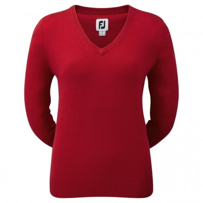 FootJoy - Pull Over Lambswool Col V Femme 95893