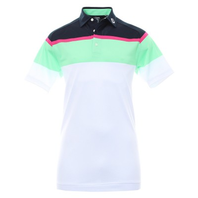 FootJoy Chest Stripe Pique Golf Shirt 91647