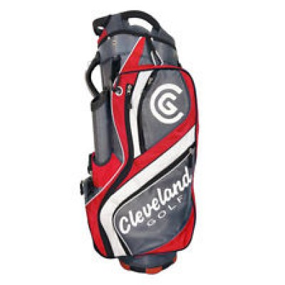 Cleveland CG Cart Bag Char, Red, White
